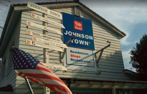 ジョンソンタウンまで、約612m