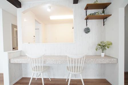 おうちカフェタイプのカフェコーナー施工例