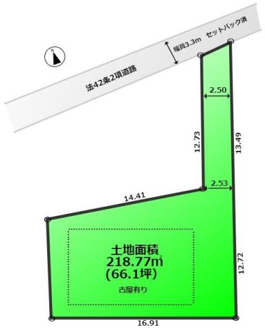 入間市宮寺 建築建築条件なし売地